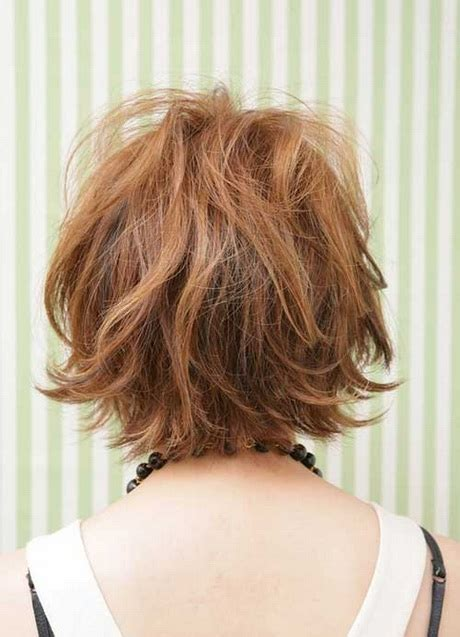 back view short messy layer haircuts messy short hairstyles for women