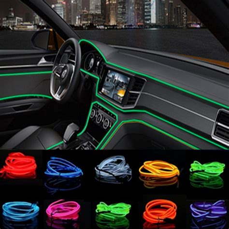 How To Decorate Car Interior by Car Styling 2m Car Interior Light Ambient Light Cold Light