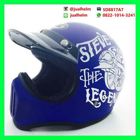 helm cakil hbc steve the legend biru elevenia