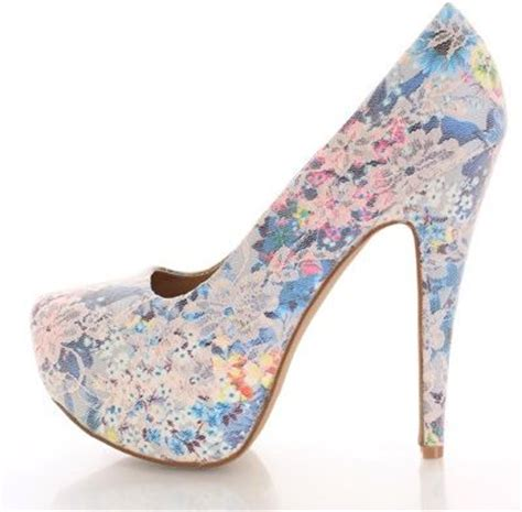 blue patterned heels nude floral lace pump heels 9 gorgeous floral patterned