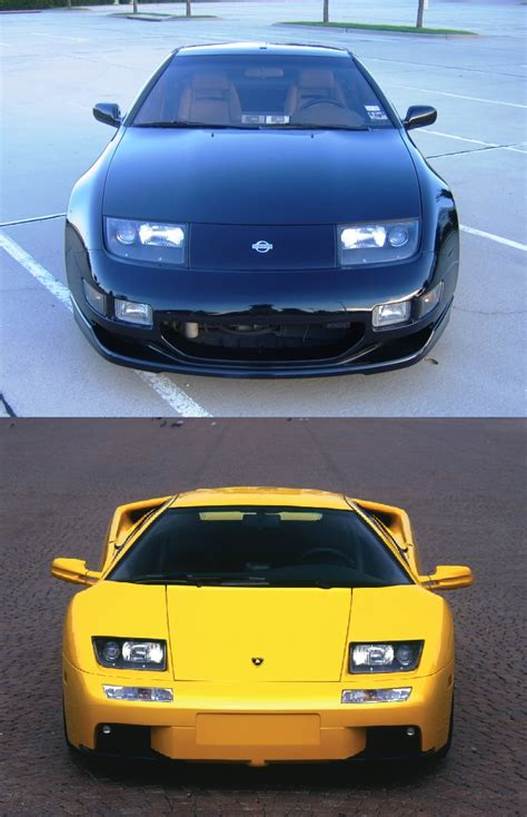 lamborghini headlights that moment when a lambo uses the exact oem nissan z32