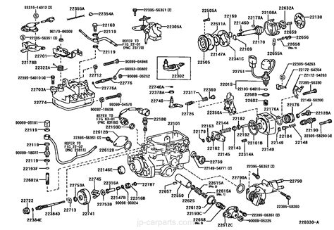injection pump body toyota part list jp carparts com