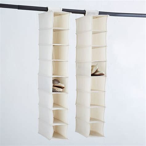canvas shoe storage canvas hanging shoe organizer west elm