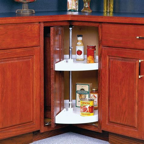 Knape Vogt 33 In H X 28 In W X 28 In D 2 Shelf Pie Lazy Susans For Cabinets