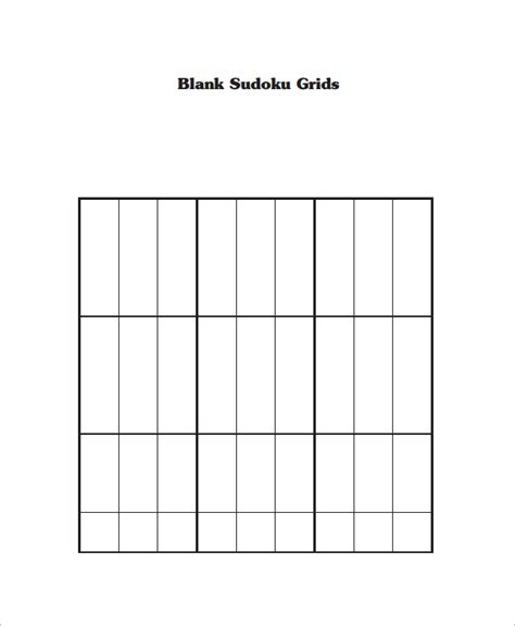 printable sudoku template sle blank crossword template 9 documents download in