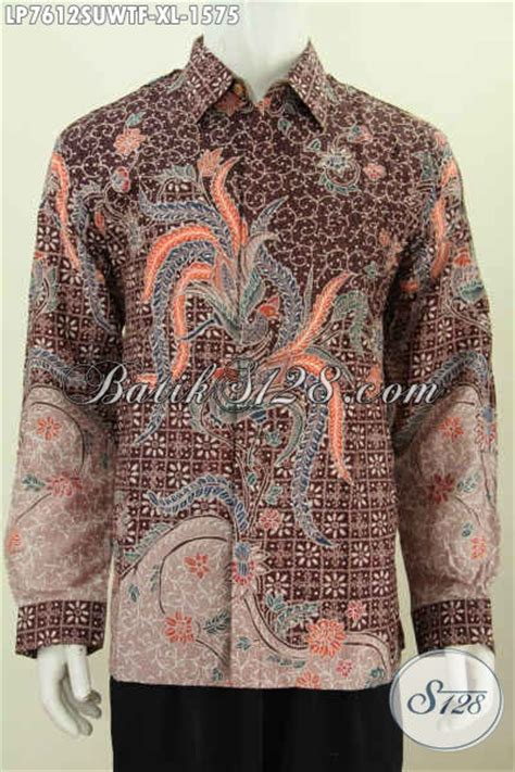 Kemeja Batik Sogan Tangan Panjang baju kemeja batik bahan spesial buat lelaki