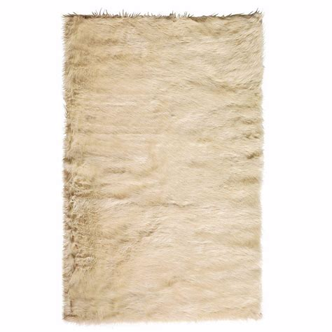 Sheepskin Area Rug Home Decorators Collection Faux Sheepskin Beige 10 Ft X 13 Ft Area Rug 5248250420 The Home Depot