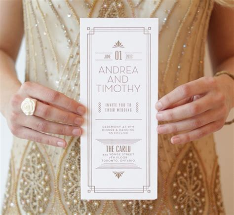 gatsby wedding invites the roaring 20s great gatsby wedding theme wedding