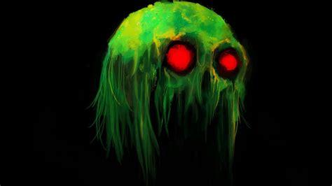 Handuk Moneter creepy green hd desktop wallpaper