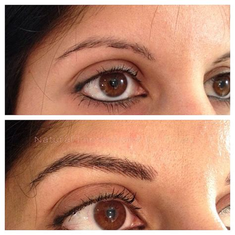 tattoo eyebrows techniques 21 best images about semi permanent eyebrow hairstroke