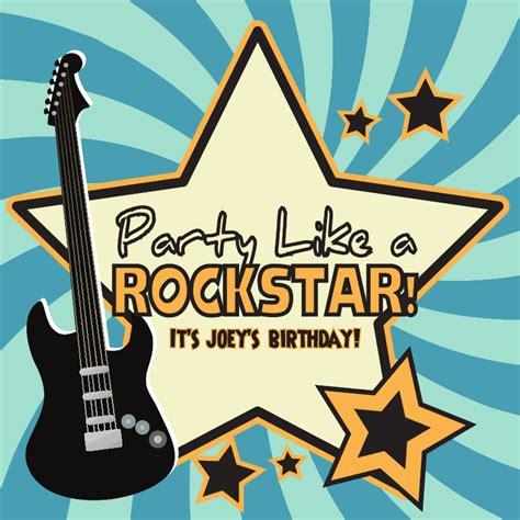 Rock Star Birthday Party Theme Ideas For Kids