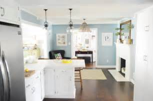 blue walls in kitchen we re back to painting rooms again young house love