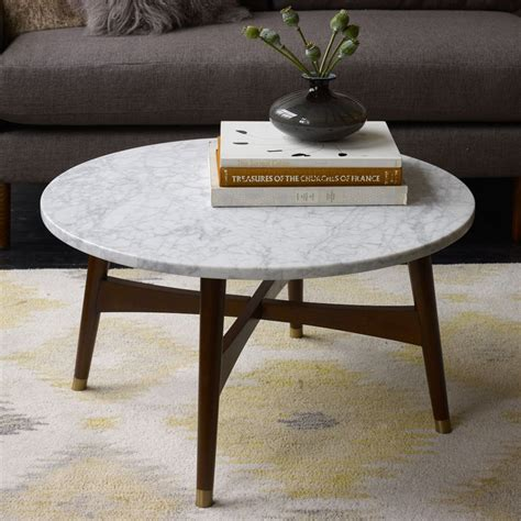 Reeve Mid Century Coffee Table Marble Walnut Marble Coffee Coffee Tables Sale
