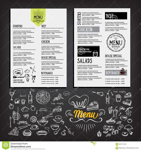 menu brochure template food menu restaurant template design flyer cafe