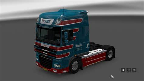 daf xf   vogel transport skin pack  ets euro truck simulator  mods