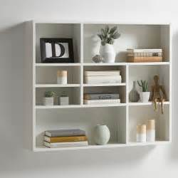 Wall Storage Shelves by Andreas Wall Mounted Shelving Unit In White 27391 Furniture