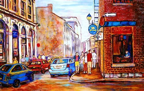 house painters montreal old montreal paintings calvet house and restaurants painting by carole spandau