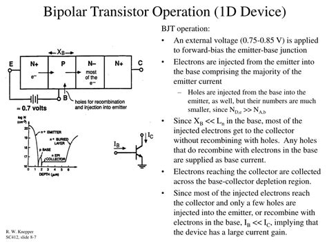 bipolar transistor operation ppt differential lifiers chapter 8 in horenstein powerpoint presentation id 162450