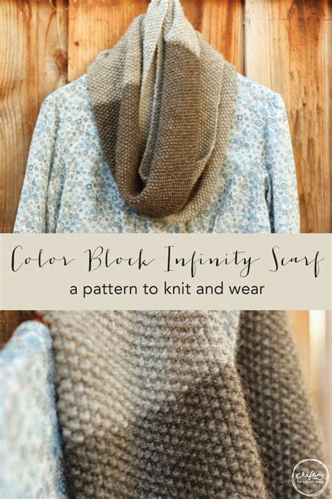 knitting patterns scarf tutorial color block infinity scarf a pattern to knit and wear