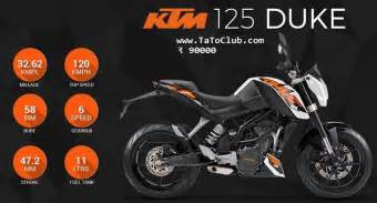 Ktm 125cc Price In India Ktm 125 Duke Price Mileage In India Tatoclub