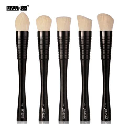 Kuas Make Up 5 In 1 maange kuas make up profesional 5 pcs mag9301 black