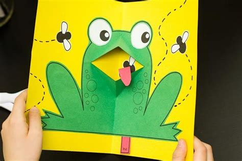 tortoise pop up card template easy pop up frog for hub frogs turtle