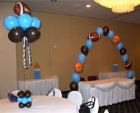 sports themed decorations sports themed baby shower baby fever