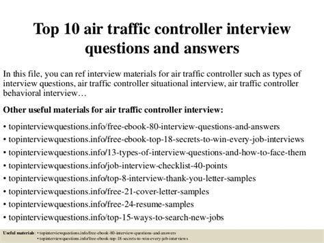 Domestic Engineer Resume Sample by Top 10 Air Traffic Controller Interview Questions And Answers