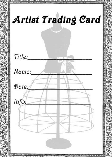 card back template free vintage digital sts free printable artist