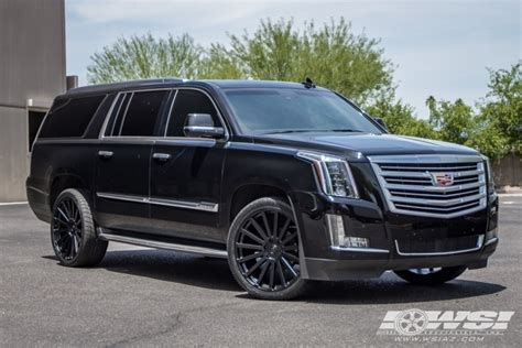 cadillac escalade black rims 2015 cadillac escalade with 24 quot black rhino spear in matte