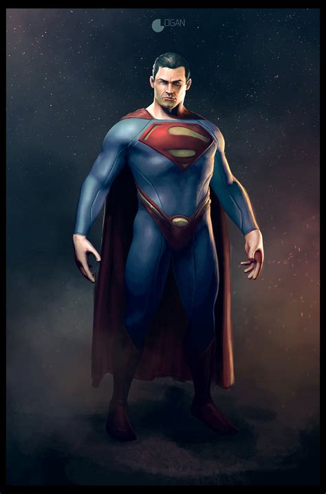 superman painting free superman by charleslogan on deviantart