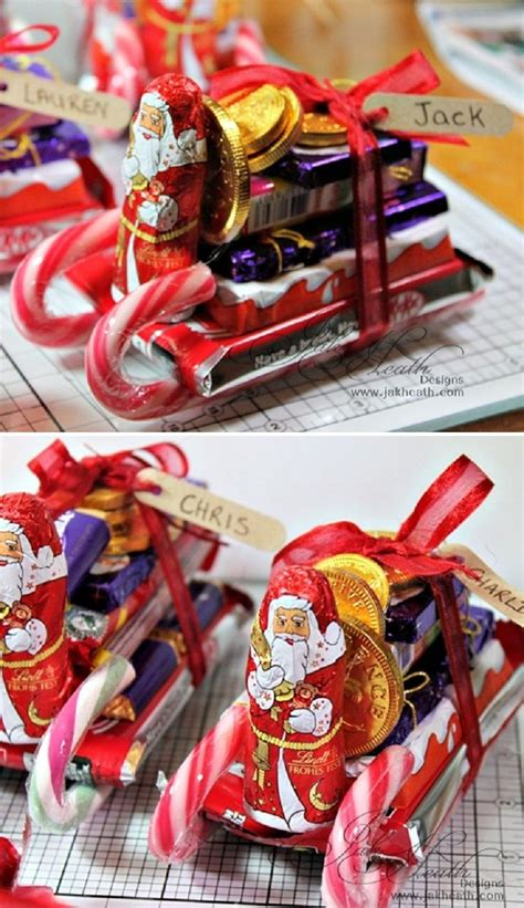 candy cane skeigh xmas craft chocolate santa sleighs tutorial 12 wondrous diy sleigh ideas that will leave