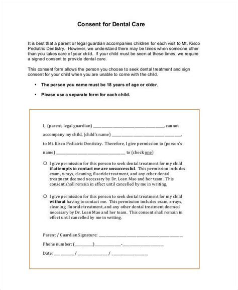 Dental Consent Form Consent Form Welcome To Our Practice Consent For The Use Of Restraints Dental Treatment Consent Form Template