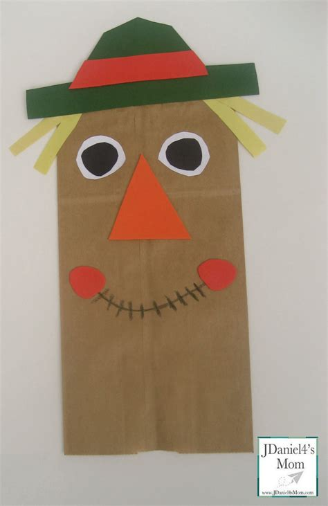 Kid Paper Crafts - craft for paper bag scarecrow