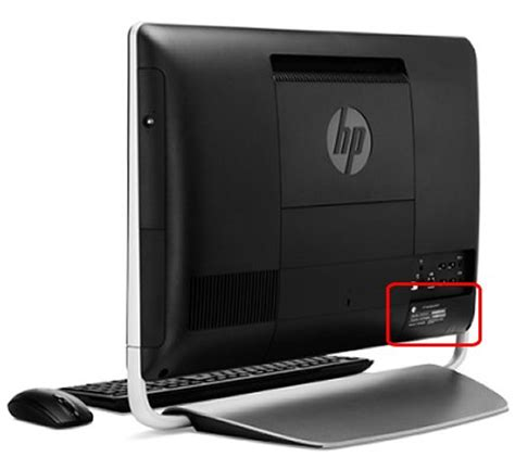 hp all in one desktop pcs how do i find my model number