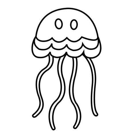 cartoon jellyfish coloring pages simple cartoon jellyfish coloring page download print