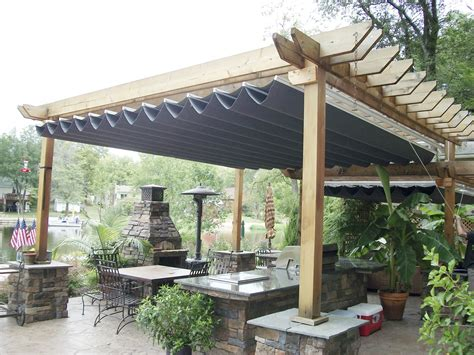 decor wooden pergola canopy design with potted plant and