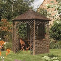 Natural Willow Gazebo by Willow Gazebo Rowlinson Wicker Weave Garden Summer Shade