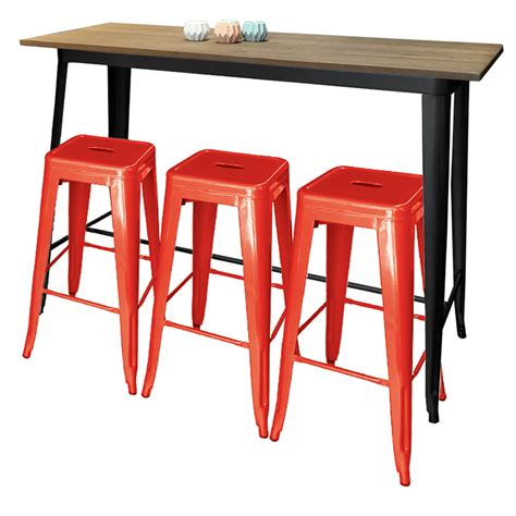 Pub Tables And Stools by Replica Bar Table With 3 Stools Chairforce