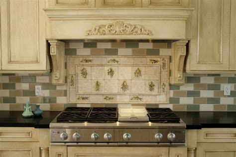 kitchen backsplashes images stoneimpressions featured kitchen backsplash design herbs