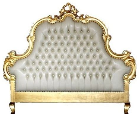 gold headboard milania tufted headboard gold leaf and cream faux leather
