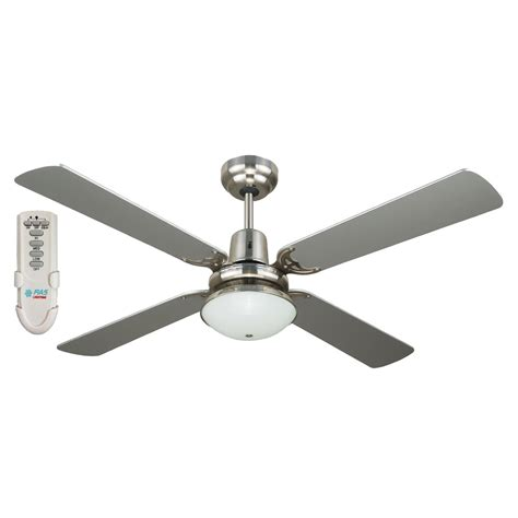 Ceiling Fans With Lights And Remotes Ramo 48 Inch Ceiling Fan With Light And Remote Silver Ceiling Fan Bargains