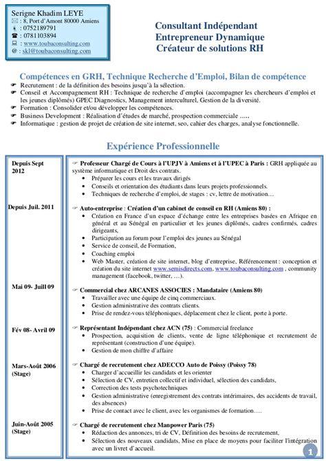 Cabinet De Recrutement Amiens by Cv Consultant Rh