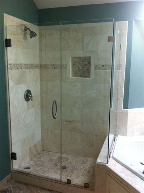 Replacing Shower Door Glass Frameless Glass Shower Door Photo Gallery Precision Glass