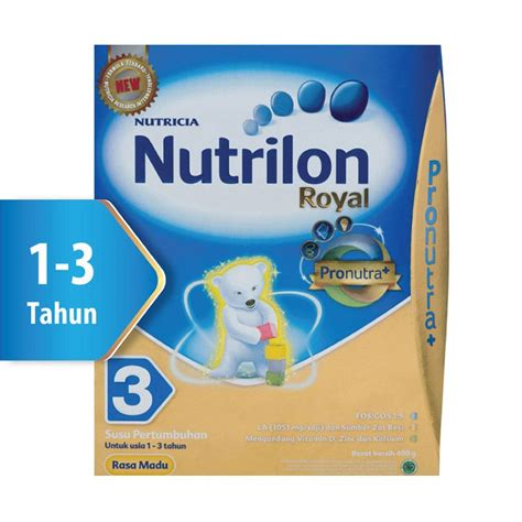 Nutrilon Royal 1 3 Tahun Jual Nutrilon Royal Pronutra 3 Madu Formula Box 400gr