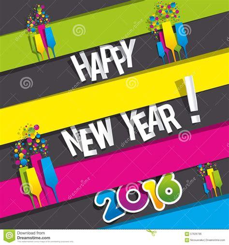 new year greeting card design 2016 happy new year celebration greeting card desig 17892
