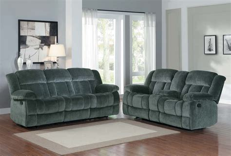 homelegance laurelton reclining sofa set charcoal