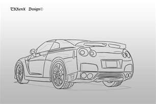 How To Draw A Nissan Gtr How To Draw Nissan Skyline