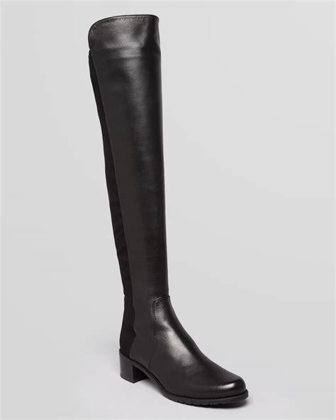 stuart weitzman the knee boots stuart weitzman the knee boots reserve in black lyst