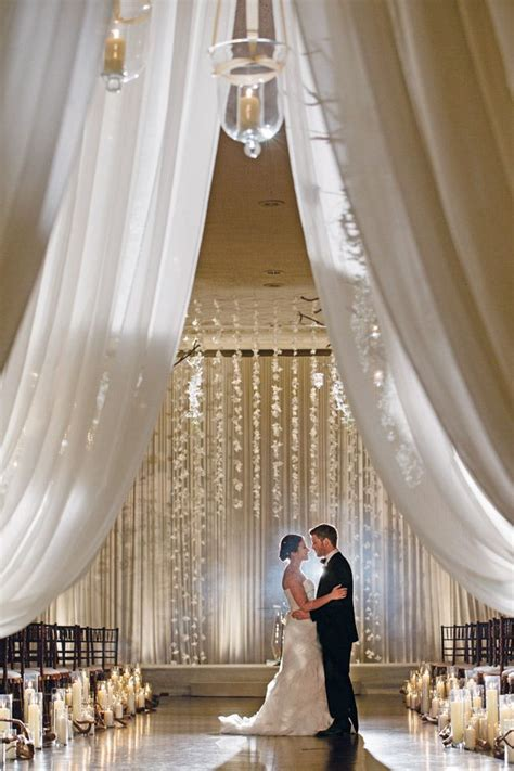 20 awesome indoor wedding ceremony d 233 coration ideas - Wedding Backdrop Indoor